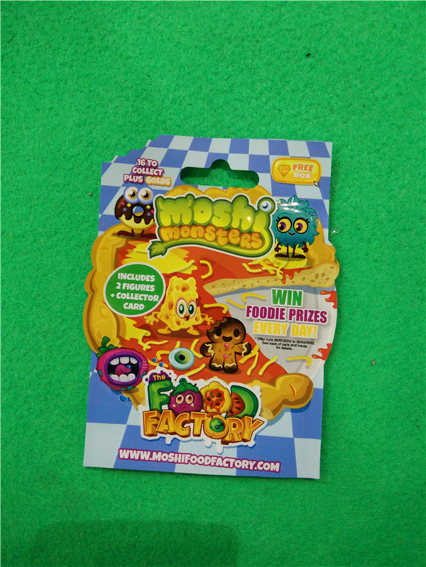 0.06mm PP Special Shape Plastic Bags for Kids Collecting Cards packaging , Custom Made Shape